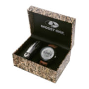 Mossy Oak® Mens Knife and Brown Leather Strap Watch Set