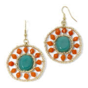 Decree® Blue and Orange Bead Circle Earrings