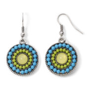 Arizona Multicolor Bead Round Earrings