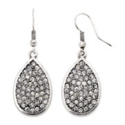 Arizona Crystal Silver-Tone Teardrop Earrings