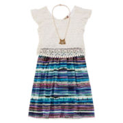 Speechless® Popover Dress and Necklace - Girls 7-16 and Plus