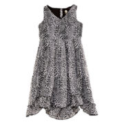 Total Girl® Animal-Print Ruffle-Hem Dress - Girls 7-16
