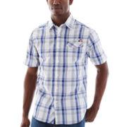 Ecko Unltd.® Short-Sleeve Plaid Woven Shirt