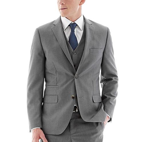 Savile Row® Gray Suit Jacket - Slim