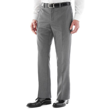 jcpenney.com | Savile Row® Gray Flat-Front Suit Pants - Slim