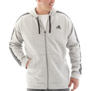 adidas® Essential Fleece Full-Zip Hoodie-Big & Tall