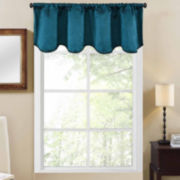 Richloom Shale Rod-Pocket Scalloped Valance