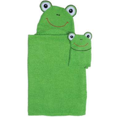 jcpenney.com | Frog Hooded Towel and Wash Mitt Set