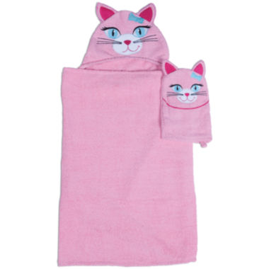 jcpenney.com | Kitty Hooded Towel and Wash Mitt Set