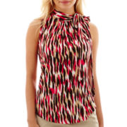 Liz Claiborne® Sleeveless Mock-Neck Top - Petite