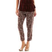 Liz Claiborne® Print Cropped Soft Pants - Petite
