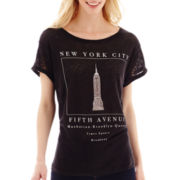 MNG by Mango® Short-Sleeve New York Linen T-Shirt