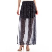 MNG by Mango® Print Sheer Maxi Skirt