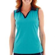 Made For Life™ Sleeveless Mesh Polo Shirt - Tall