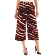 Worthington® Pull-On Wide-Leg Print Soft Pants - Tall