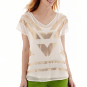 Worthington® Short-Sleeve Beaded Blouse
