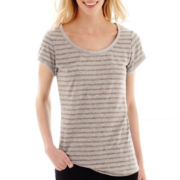 i jeans by Buffalo® Short-Sleeve Striped Sequin T-Shirt