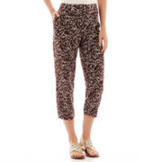 Liz Claiborne® Cropped Print Soft Pants - Tall