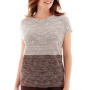 Liz Claiborne® Short-Sleeve Colorblock T-Shirt