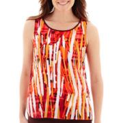 Liz Claiborne® Print Woven Tank Top