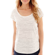 Liz Claiborne® Short-Sleeve Striped T-Shirt