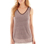 Liz Claiborne® Sleeveless Striped Tank Top