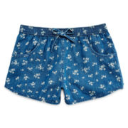 Arizona Chambray Soft Shorties - Girls 7-16 and Plus