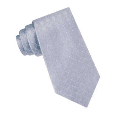 jcpenney.com | Stafford® Crowell Grid Silk Tie
