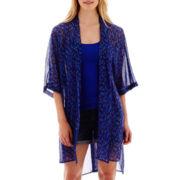 a.n.a® Elbow-Sleeve Kimono Duster