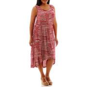 a.n.a® Sleeveless High-Low Flip Flop Dress - Plus
