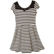 by&by Girl Striped Bow-Back Dress - Girls 7-16