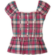 by&by Girl Plaid Peasant Top - Girls 7-16
