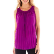 Worthington® Pleated Mesh Top