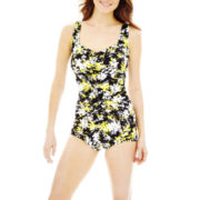 Azul by Maxine of Hollywood® Shirred 1-Piece Swimsuit
