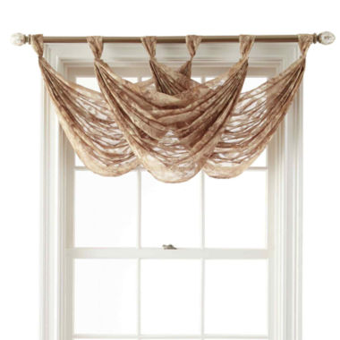 jcpenney.com | Royal Velvet® Frasier Tab-Top Sheer Waterfall Valance