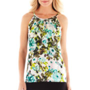 Worthington® Sleeveless Tiered Mesh Top