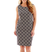 Alyx® Sleeveless Diamond Print Sheath Dress - Plus