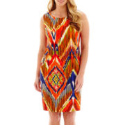 Alyx® Sleeveless Aztec Print Sheath Dress - Plus