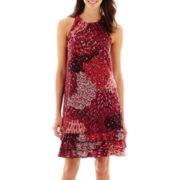 MSK Sleeveless Three-Tier Ruffled Dress - Petite