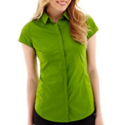 Worthington® Essential Short-Sleeve Shirt - Tall