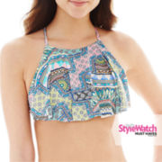 a.n.a® Tribal Print Apron Handkerchief Swim Top