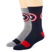 Marvel® Captain America 2-pk. Athletic Crew Socks