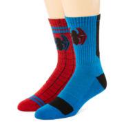 Marvel® Spider-Man 2-pk. Athletic Crew Socks