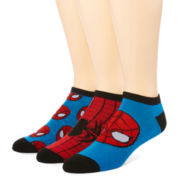 Marvel® Spider-Man 3-pk. Athletic Low-Cut Socks