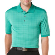 PGA TOUR® Windowpane Jacquard Polo