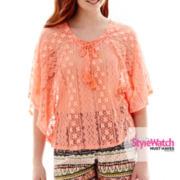 Olsenboye® Elbow-Sleeve Lace Poncho