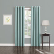 Sun Zero™ Trinity Room-Darkening Grommet-Top Curtain Panel