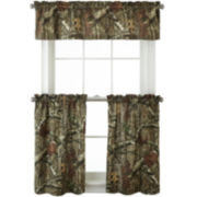 Mossy Oak® Break Up Infinity Rod-Pocket Camo Kitchen Curtains