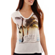 MNG by Mango® Sleeveless Palm Tree Graphic T-Shirt