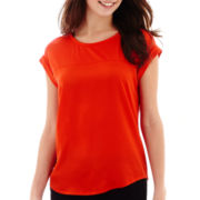 MNG by Mango® Short-Sleeve Mixed Media Top